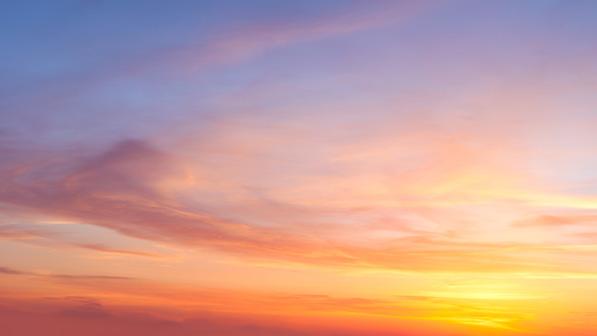 Ciel soleil couchant symbole des annales akashiques