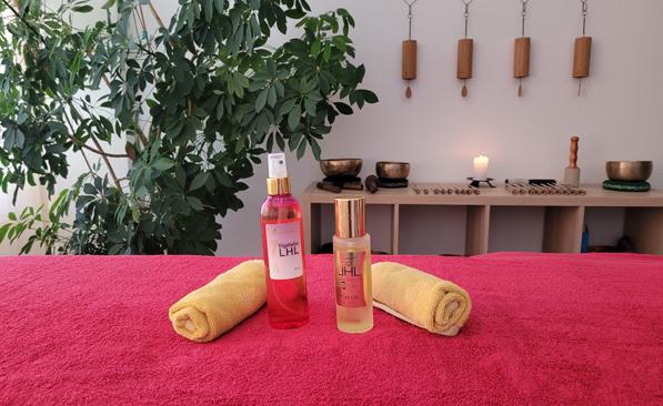 Huiles pour le massage LHL dans l'espace de massage